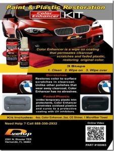 Paint and plastic Restoration Color Enhancer Kit