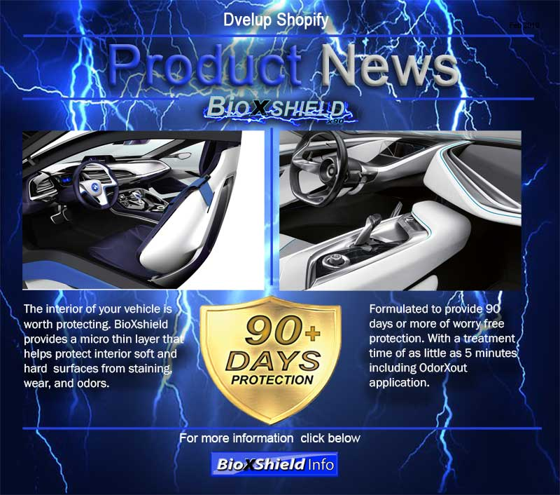 Bioxshield interior protection for your car.
